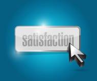 Satisfaction button illustration design Stock Image
