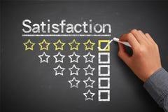 Satisfaction concept stock photos