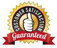 Satisfaction du client garantie Photographie stock libre de droits