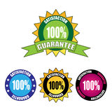Satisfaction guarantee. Set of four different satisfaction guarantee label isolated on white background. EPS file available stock illustration