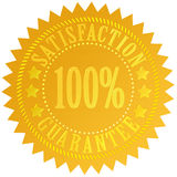 Satisfaction guarantee. Icon isolated over white Vector Illustration