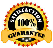 Satisfaction guarantee. Icon over white vector illustration