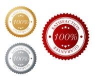 Satisfaction guarantee. Vector illustration of a satisfaction guarantee label Stock Photography