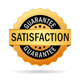Satisfaction guarantee icon. On white background Stock Images
