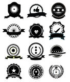Satisfaction Guarantee Icons. Set of Satisfaction Guarantee icons in black color stock illustration