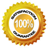Satisfaction guarantee label. Satisfaction guarantee 100% label over white Vector Illustration