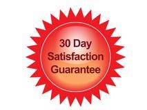 Satisfaction guarantee label Royalty Free Stock Image