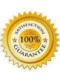 Satisfaction guarantee label Stock Images