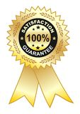 Satisfaction_guarantee label Stock Images