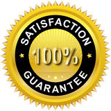 Satisfaction guarantee label. Illustration of 100% Satisfaction guarantee Royalty Free Stock Photos