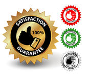 Satisfaction guarantee. Label on white Royalty Free Stock Photography
