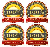 Satisfaction guarantee labels Royalty Free Stock Photography