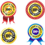 Satisfaction Guarantee lables Royalty Free Stock Photography