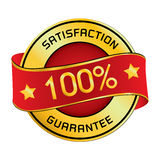 Satisfaction & Guarantee Logo. Satisfaction & Guarantee Logo isolated on white background. Royalty Free Stock Photography