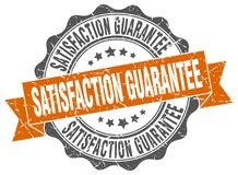 Satisfaction guarantee seal. stamp. Satisfaction guarantee round seal isolated on white background. satisfaction guarantee Stock Illustration