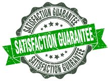 Satisfaction guarantee seal. stamp. Satisfaction guarantee round seal isolated on white background Vector Illustration