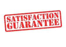 SATISFACTION GUARANTEE. Rubber stamp over a white background Royalty Free Stock Photos