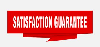 Satisfaction guarantee. Sign.  paper origami speech bubble.  tag.  banner Royalty Free Illustration
