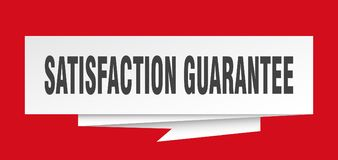 Satisfaction guarantee. Sign.  paper origami speech bubble.  tag.  banner Stock Illustration