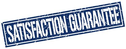 Satisfaction guarantee stamp. Satisfaction guarantee square grunge sign isolated on white. satisfaction guarantee royalty free illustration