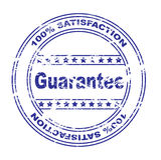 Satisfaction guarantee stamp (vector) Stock Image