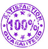 Satisfaction guarantee stamp (vector file included Royalty Free Stock Image