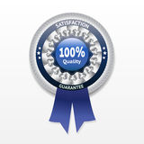 Satisfaction guarantee vector label. Eps 10 royalty free illustration