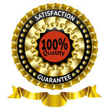 Satisfaction guarantee vector label. With ribbon. eps 10 Royalty Free Stock Images