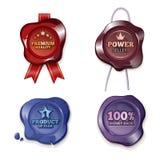 Satisfaction guarantee on wax seal Stock Photography