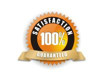 Satisfaction Guaranteed 100%. Cool badge - Satisfaction Guaranteed 100 royalty free illustration