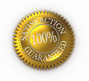 Satisfaction Guaranteed. Isolated Satisfaction Guaranteed seal over white Stock Illustration
