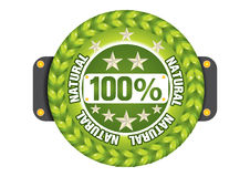 Satisfaction guaranteed. The Illustration of a gold seal and red ribbon with the message Satisfaction 100% Guaranteed Stock Images