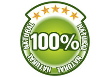 Satisfaction guaranteed. The Illustration of a gold seal and red ribbon with the message Satisfaction 100% Guaranteed Stock Photography