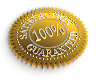 Satisfaction Guaranteed. Isolated Satisfaction Guaranteed seal over white Royalty Free Illustration