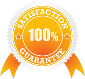 Satisfaction guaranteed. Sign stamp isolated on white Stock Photography