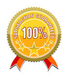 Satisfaction guaranteed. A satisfaction guaranteed sticker for your website Royalty Free Illustration