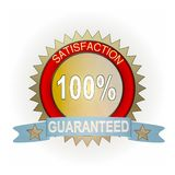 Satisfaction Guaranteed. This is a satisfaction Guaranteed seal. Generally can be used on sales pages for web sites Stock Photo