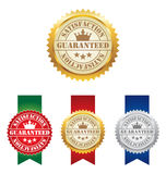 Satisfaction Guaranteed. Four Vector Satisfaction Guaranteed Labels Stock Illustration