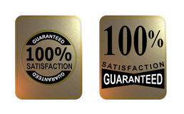 Satisfaction guaranteed. Vector art of a 100% satisfaction guaranteed badge Stock Photos