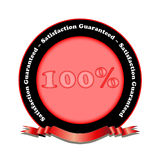 Satisfaction Guaranteed. Is guaranteed with seal of approval. Fully scalable vector illustration royalty free illustration