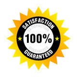Satisfaction Guaranteed. Illustration of 100% satisfaction guaranteed badge or seal Royalty Free Stock Photo