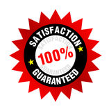 Satisfaction Guaranteed. Illustration of 100% satisfaction guaranteed badge or seal Stock Photography