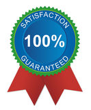 Satisfaction guaranteed badge. Detailed illustration representing a seal with the message satisfaction guaranteed 100 vector illustration