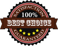 Satisfaction Guaranteed Badge Stock Photography