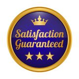 Satisfaction guaranteed badge on white background. Vector illustration Vector Illustration