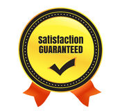 Satisfaction Guaranteed Ecommerce Badge Stock Photography