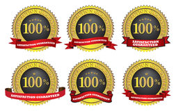 Satisfaction guaranteed label. Different Vector illustration of Satisfaction guaranteed label or sign vector illustration
