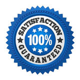 Satisfaction Guaranteed Label Isolated. On white background. 3D render Stock Photos