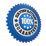 Satisfaction Guaranteed Label Isolated. On white background. 3D render Royalty Free Stock Photos
