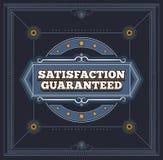 Satisfaction Guaranteed label Royalty Free Stock Photos